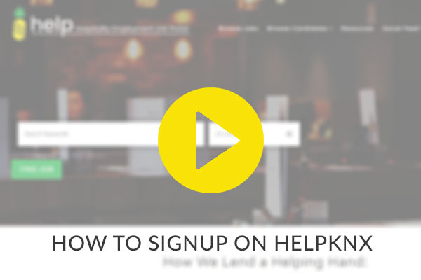 How to Signup to Helpknx